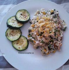 Zeleninové rizoto s kuřecím masem a cottage