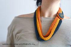 Airali handmade. Where is the Wonderland? Crochet, knit and amigurumi.: Collana&scaldacollo