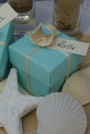 Beach themed wedding favours