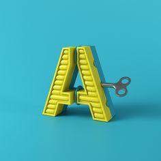 """다음 @Behance 프로젝트 확인: """"The Alphabet is your Playground."""" https://www.behance.net/gallery/34245691/The-Alphabet-is-your-Playground"""