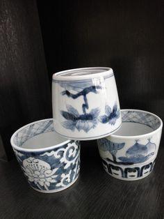 藍 蕎麦猪口 Japan / Japanese Antiques : More At FOSTERGINGER @ Pinterest ⚫️