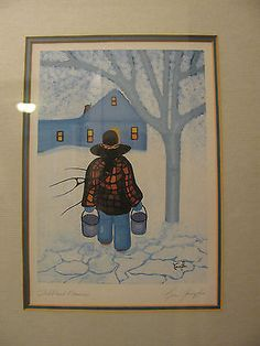 Cecil-Youngfox-Childhood-Memories-Original-Art-Signed-Framed kp