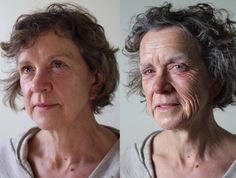 Before and after old aging Sfx makeup by Makeup Director -Danielle Ruth, wowfx