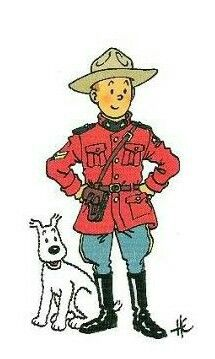 tintin as a canadian mountie!