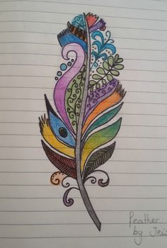 feather drawing made by me