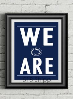 This listing is for a Penn State University Nittany Lions print that I designed.    ★ OPTIONS ★    Please select which size you would like using the