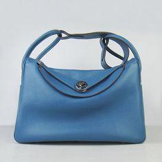 4ed63e992acd Hermes Lindy Women Shoulder Bag Blue For Sale