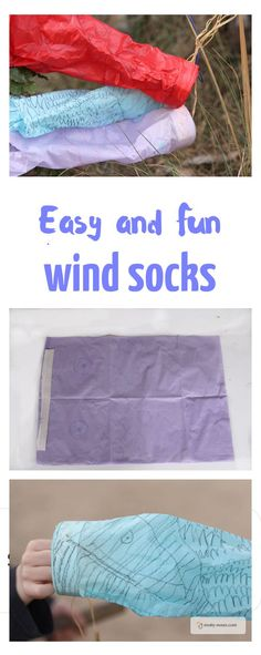 Easy Tissue Paper wind Sock Activity. My kids loved making these wind sock kites. They were super easy and super fun.
