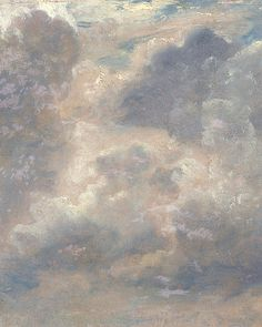 """John Constable - Cloud Study "" John Constable, RA – was an English Romantic painter. Born in Suffolk, he is known principally for his landscape paintings of Dedham Vale, the area surrounding his home — now known as. Angel Aesthetic, White Aesthetic, Aesthetic Art, Aesthetic Pictures, Renaissance Kunst, Montage Photo, Aesthetic Painting, Classical Art, Art Plastique"