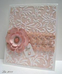 love the embossing and soft color by vicky
