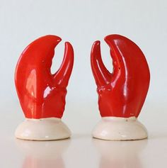 Vintage Lobster Salt and Pepper Shakers