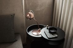 Shop Palla Table Lamp and other modern and contemporary home and office furniture. Browse our selection of Lighting from Zuri Furniture. Copper Table Lamp, Copper Lamps, Copper Lighting, Black Table Lamps, Light Table, A Table, Traditional Office, Ball Lights, Desk Lamp