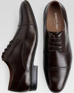 Kenneth Cole Mix-Ability Brown Cap-Toe Lace Ups - Mens Dress Shoes, Shoes - Men's Wearhouse