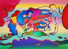 Three Faces by Peter Max