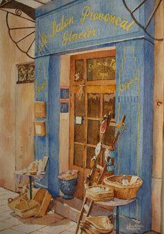 Aquarelle: Le «Salon Provençal»