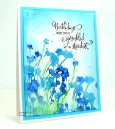 Watercolour Birthday Morning. Here is a simple card I made using my watercolour…