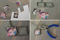 A Necklace Diy Photo Booth, Friends Image, Diy Necklace, Photo Jewelry, My Best Friend, Diy Projects, Diy Crafts, Crafty, Frame