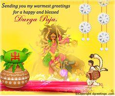 Durga Puja Cards Durga Puja, Durga Goddess, Blessings