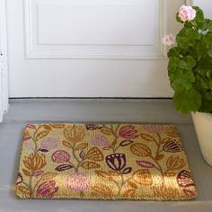 Jamie Floral Coir Doormat | The Company Store