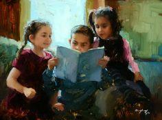 Beautiful Childhood Paintings by Marci Oleszkiewicz | American Artist