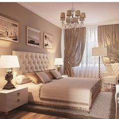 28 Stylish And Elegant Master Bedroom Ideas for Your Family ~ Home And Garden classic bedroom design ideas Room Ideas Bedroom, Bedroom Colors, Home Decor Bedroom, Living Room Decor, Bedroom Curtains, Bedroom Decor Elegant, Bedroom With Couch, Beige Walls Bedroom, Bedroom Furniture