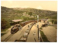 Railway, Tan-y-Bwlch, Festiniog (i.e. Ffestiniog), Wales c1890