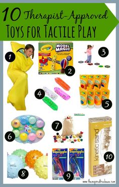 pediatric therapist- some favorite products by The Inspired Treehouse from Amazon- see other lists from etsy and other categories for children's therapeutic play by OT's