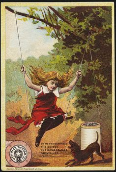 Merrick Thread Co., on Merrick thread she swings and in the foliage gaily sings. [front]   Flickr - Photo Sharing!