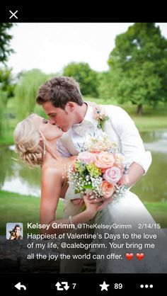 They're like the photo that comes with a photo frame!! {Caleb & Kelsey Grimm wedding photo}