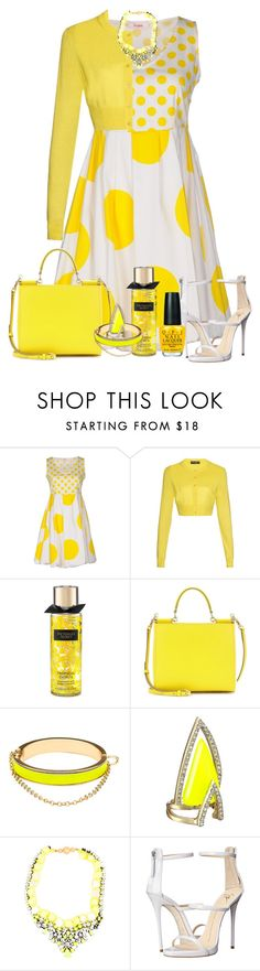"""You Are My Sunshine!!!!"" by stefaniekmasters ❤ liked on Polyvore featuring Blugirl Folies, Dolce&Gabbana, CC SKYE, Alexis Bittar, Giuseppe Zanotti and OPI"