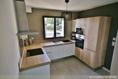 Home Dco Cuisine Design 34 Ideas Kitchen Room Design, Modern Kitchen Design, Interior Design Kitchen, Kitchen Decor, Home Office Design, House Design, Home Deco, Home Kitchens, Kitchen Remodel