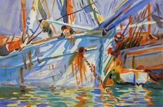 In a Levantine Port-John Singer Sargent by PaintingMania on Etsy