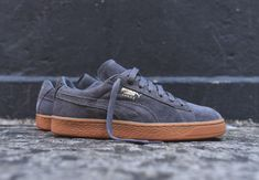Puma Swede Steel grey (gum bottoms)