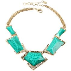 Amrita Singh Women's Watermill Statement Necklace - Blue ($20) ❤ liked on Polyvore featuring jewelry, necklaces, blue, long statement necklace, short necklaces, bib statement necklaces, amrita singh necklace and amrita singh jewelry