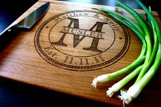Love this for a wedding gift! Personalized cutting board. #gift