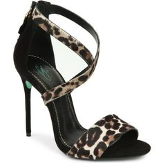CJG SHOES Sound Bite leopard print stiletto sandals found on Polyvore
