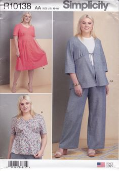 Dress Suits, Dresses, Miss Dress, Simplicity Sewing Patterns, Skirt Pants, Suit Jacket, Etsy, Formal Suits, Vestidos