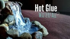 """Hot glue Waterfall Tutorial ღ (Additional idea from commenter Ryan Tollmann: """"i added a small blue led for effect"""") Fairy Crafts, Garden Crafts, Garden Projects, Garden Ideas, Glue Gun Crafts, Christmas Village Display, Fairy Furniture, Fairy Garden Houses, Fairies Garden"""