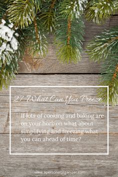 Planning ahead for your holiday cooking. Tips and tricks!  31 Days of Holiday Organizing Tips – Day 27 | http://www.apersonalorganizer.com/what-can-you-freeze-holiday-organizing-tips/