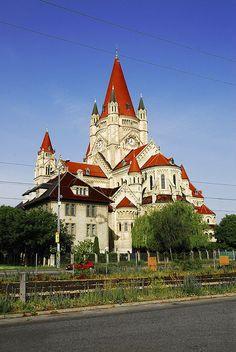 Franz von Assisi, or Jubilee Church, Vienna, Austria.   .