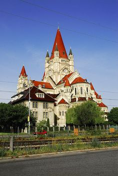 Franz von Assisi, or Jubilee Church, Vienna, Austria.   .