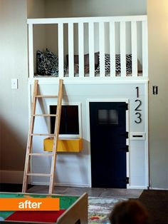 Before & After: Fireplace Nook to Lofted Playhouse — Fe Fi Fo Famma
