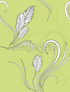 White Bromelia designed by Martina Stadler, vector download available on patterndesigns.com