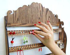 Jewelry Organizer Storage / Wall Mount Display by MastersOfFate, $97.95