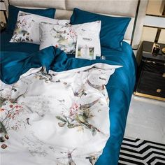 Dreaming Creek Bedding Set – fourlinedesign Cotton Bedding, Linen Bedding, Cotton Fabric, 1 Year Anniversary Gifts, Queen Size Bedding, King Beds, Bed Sheets, Duvet Covers, Comfy