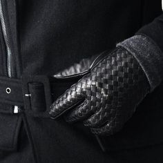 Accessories :: Designer Lux Braided Lambskin Gloves-Gadget 38 - Mens Fashion Clothing For An Attractive Guy Look