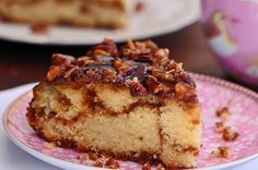 Everything about a sticky buns is achieved in this easy to prepare cake that is special enough for guests but simple enough for everyday. Just Desserts, Delicious Desserts, Yummy Food, Cake Recipes, Dessert Recipes, Family Cake, Breakfast Cake, Breakfast Recipes, Breakfast Ideas