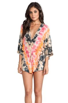 Blue Life Wild And Free Romper in Safari Sunset