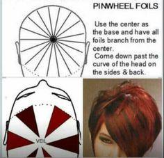 Pin wheel foils