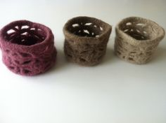 little felted baskets by Kathrin Rehde